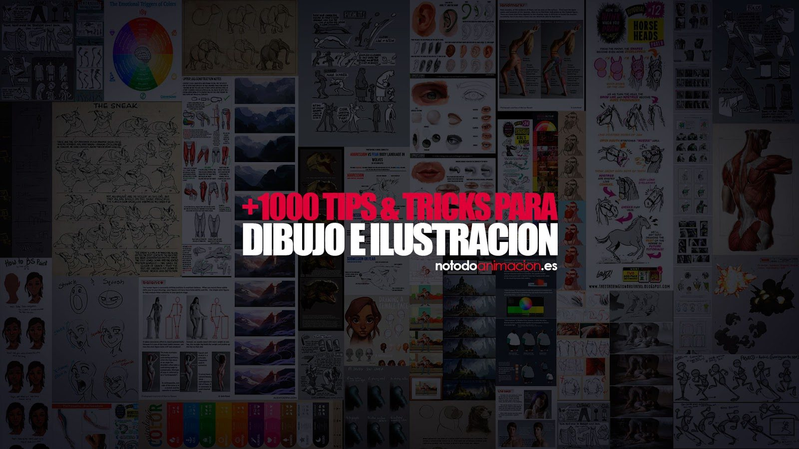 Tips para Dibujar todo lo que quieras -¿Como dibujar? Tutorials & Tips para Dibujo, Composición, teorias de Color, Curvas de Acción, Anatomía, Iluminación