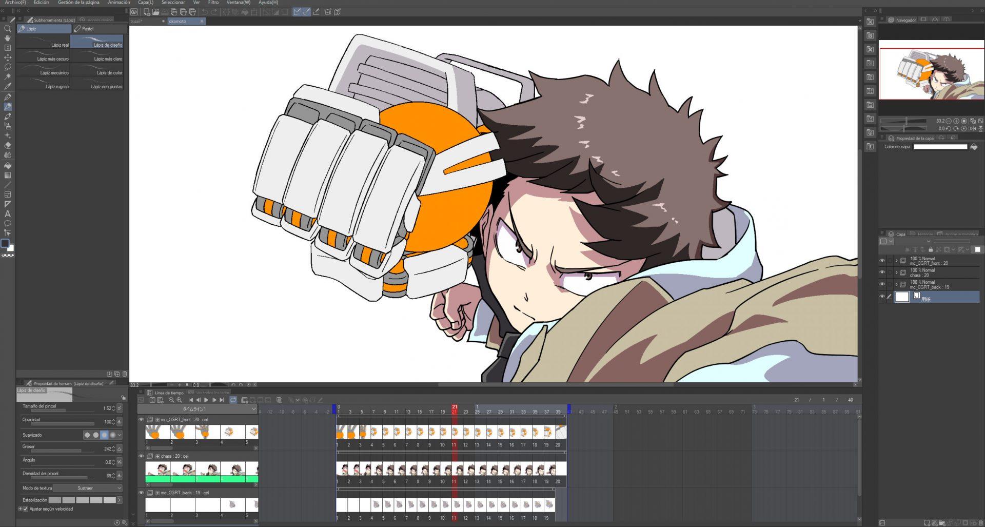 clip studio animacion 2d
