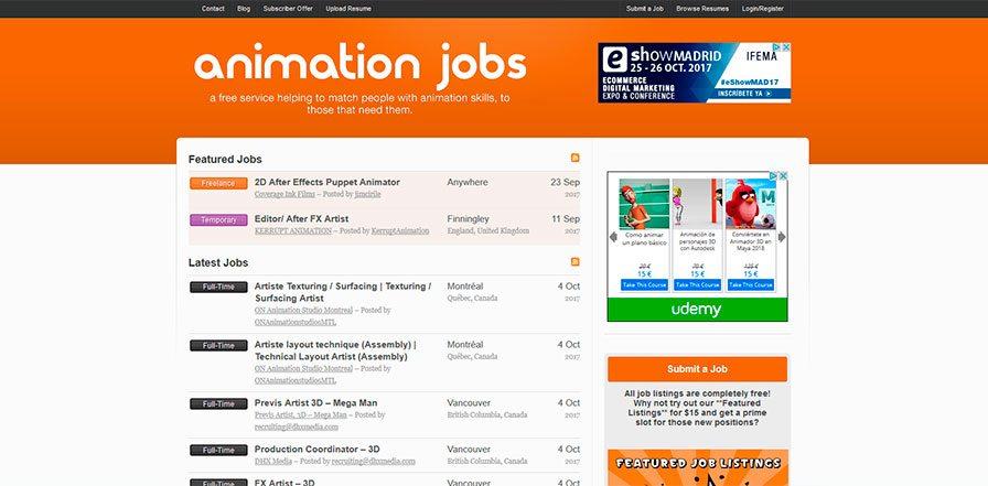 ofertas de empleo para artistas digitales. Animación 2d & 3d, ilustración, arte 3d, diseño, VFX, postproducción y arte digital. Portales de empleo especializado de la industria del cine, publicidad, videojuegos y TV