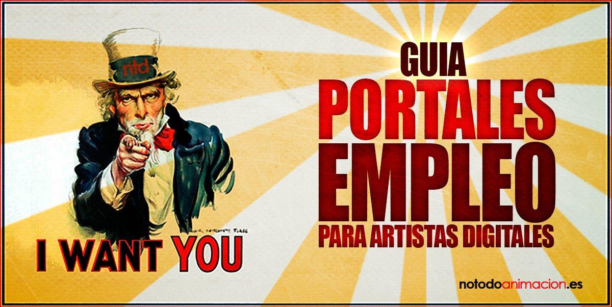 portales de empleo para artistas digitales. Animación 2d & 3d, ilustración, arte 3d, diseño, VFX, postproducción y arte digital.