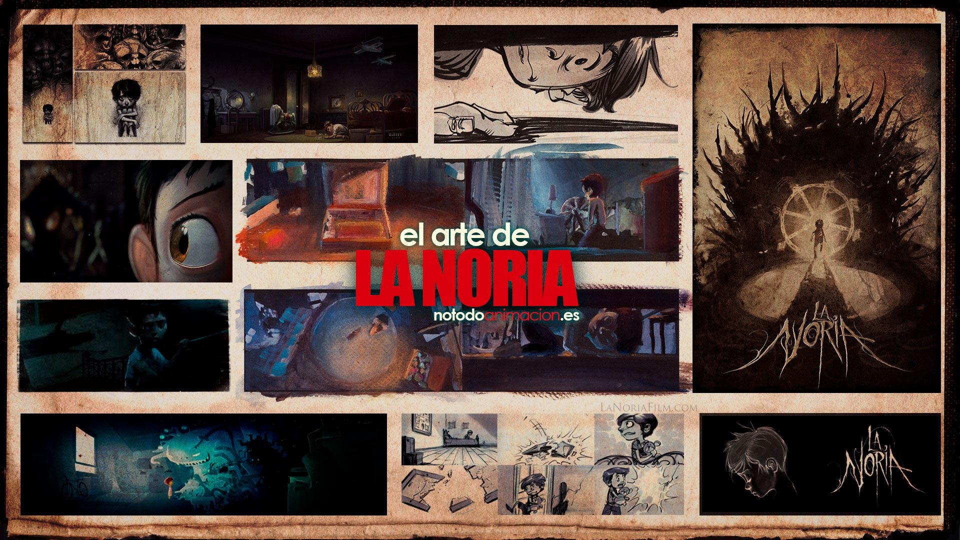 Cortometraje de Animación 3d- La noria - Desarrollo visual - el arte de la noria