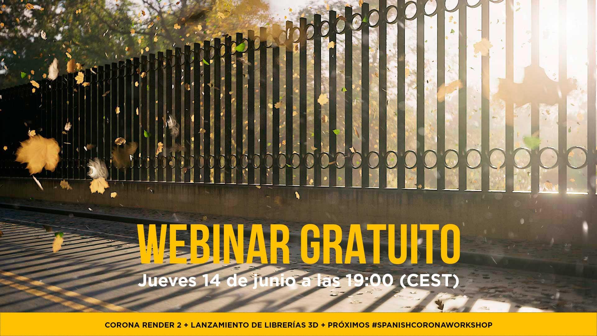 Webinar Gratuito Corona Render 2