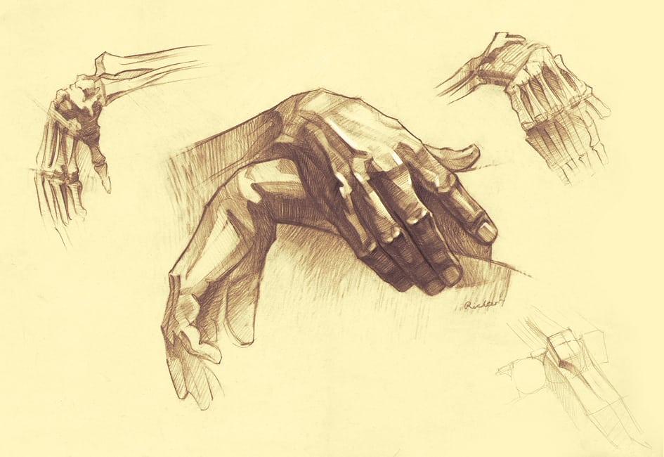 aprender a dibujar manos de forma sencilla