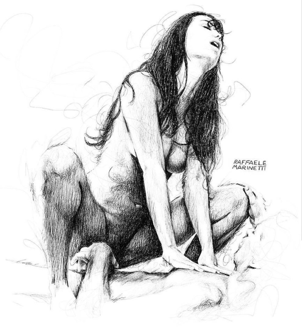 Ilustraciones Eróticas de Raffaele Marinetti