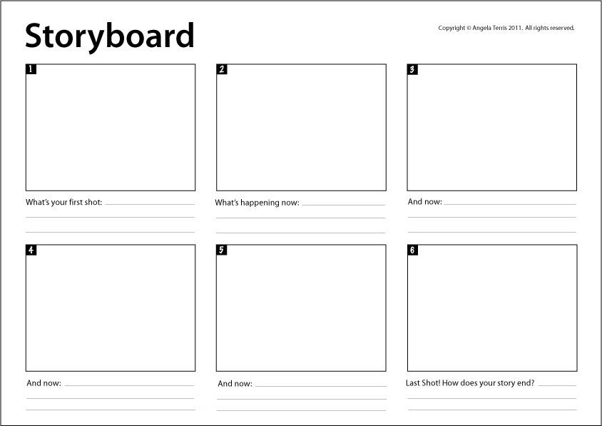 plantilla para storyboard