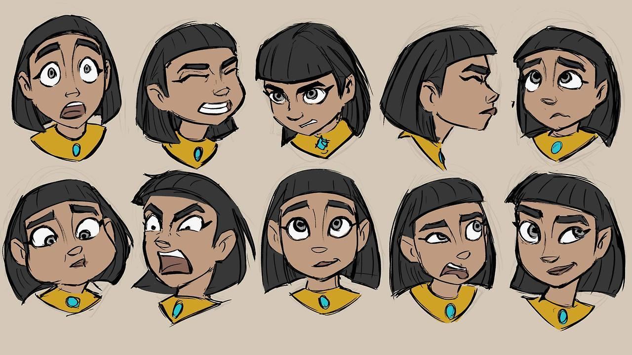 cortometraje de Animación- 3d-Pharaoh-concept art- bocetos