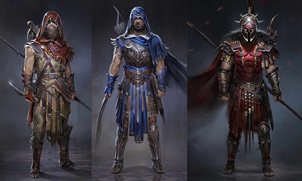 character design Assassin's Creed Odyssey