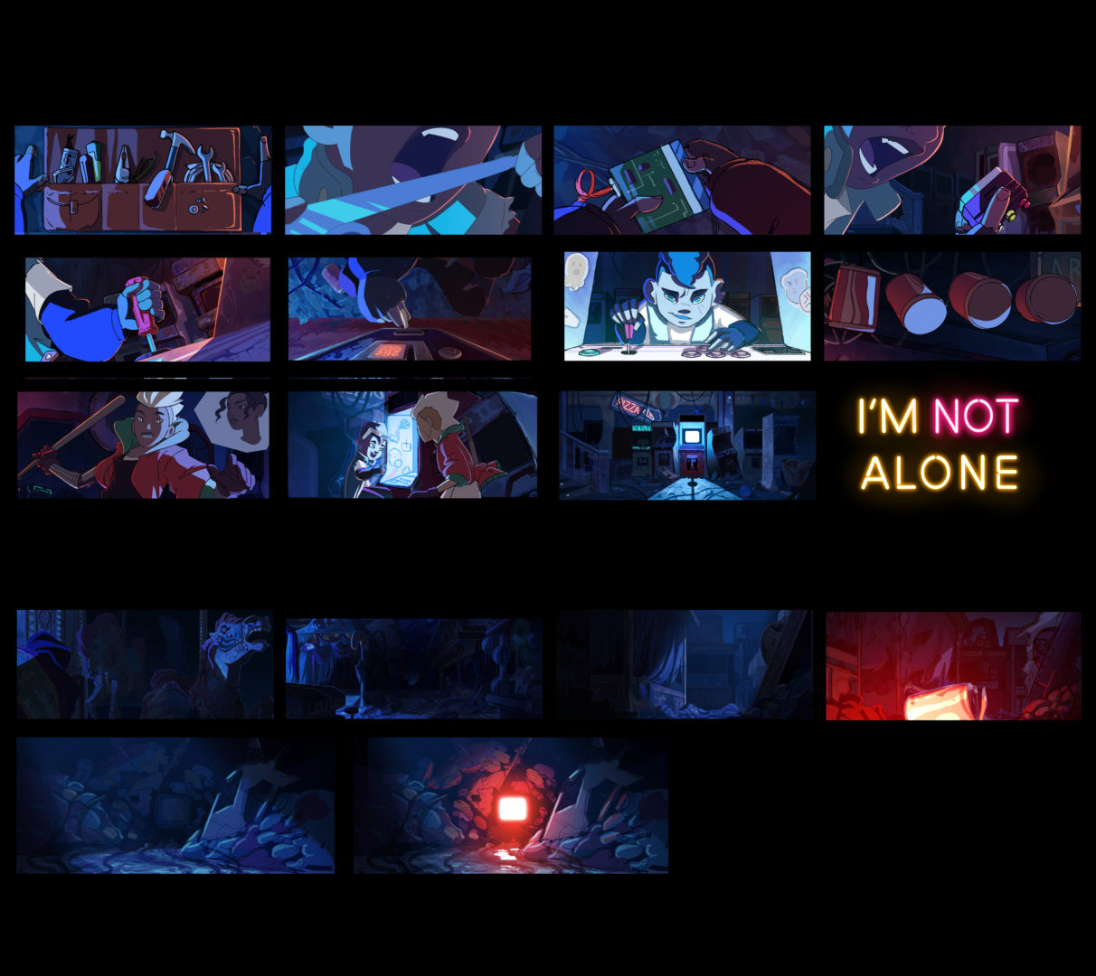 color script i'm not alone