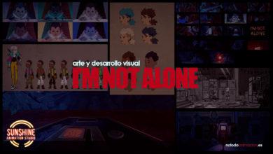 El arte de I'm not Alone - desarrollo visual