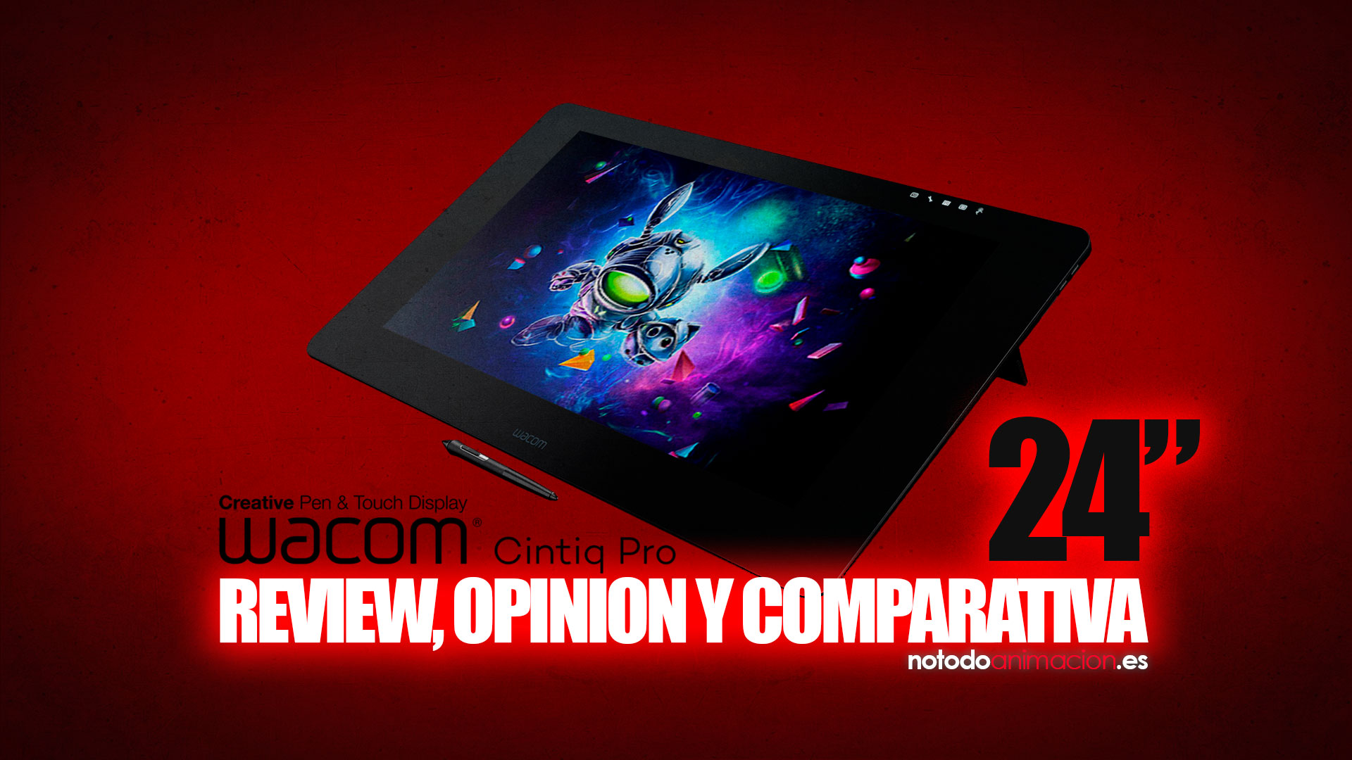 Wacom Cintiq Pro 24 PEN TOUCH review opinión comparativa