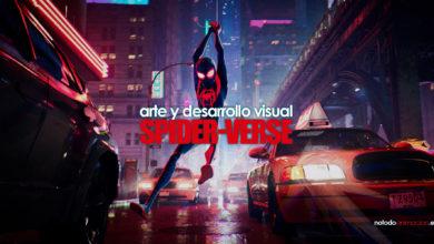 arte de spiderman - un nuevo universo desarrollo visual