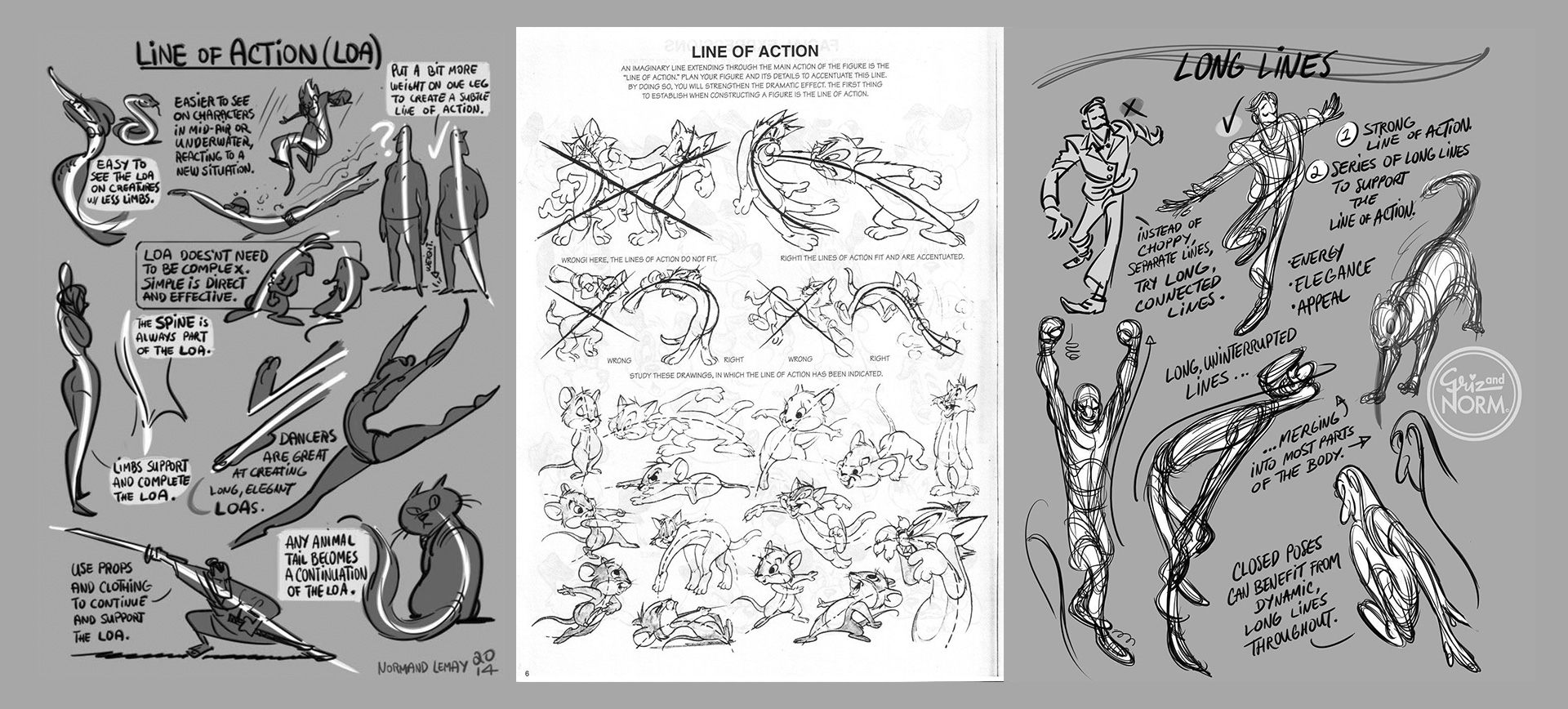 linea de acción principios diseño de personajes