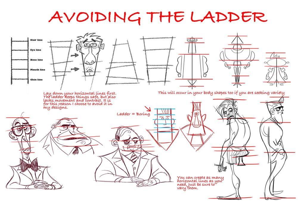 Variedad principio diseño de personajes