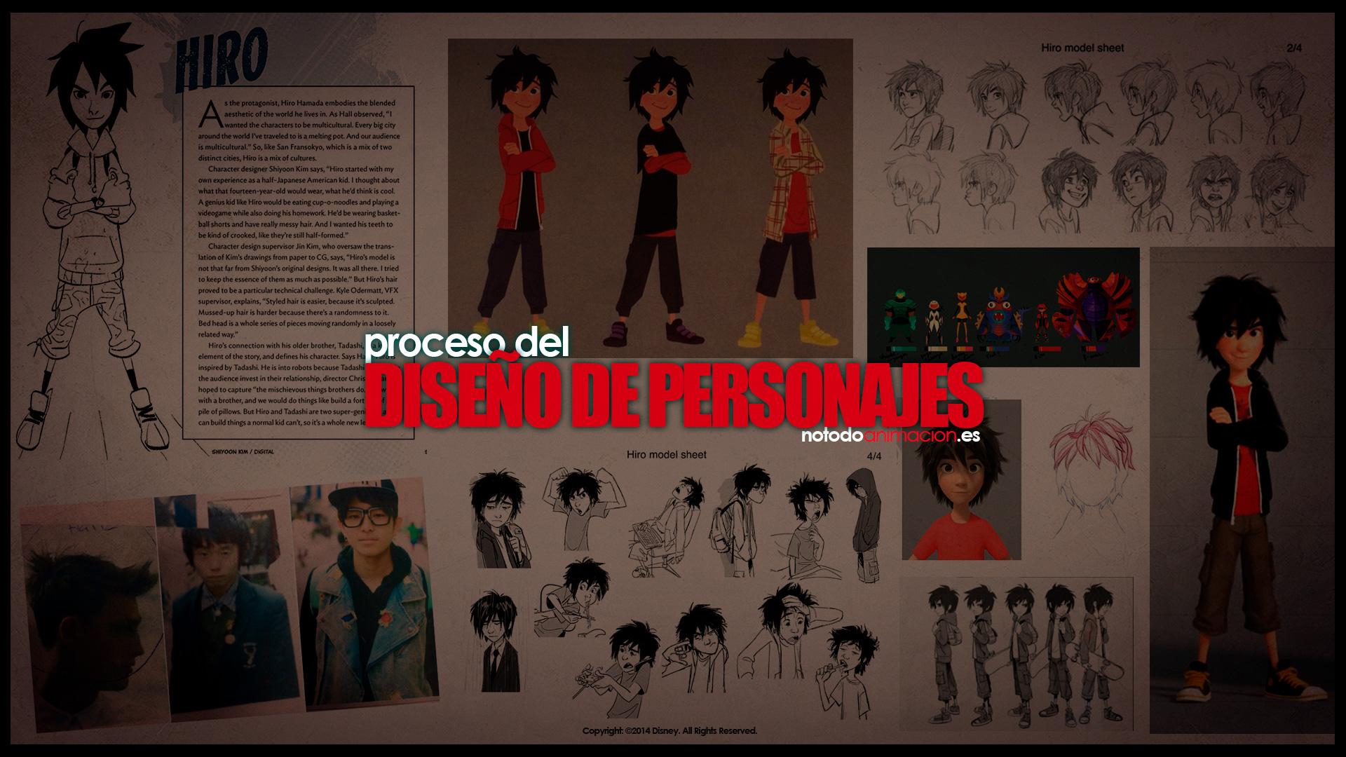 concept art diseño de personajes para animación