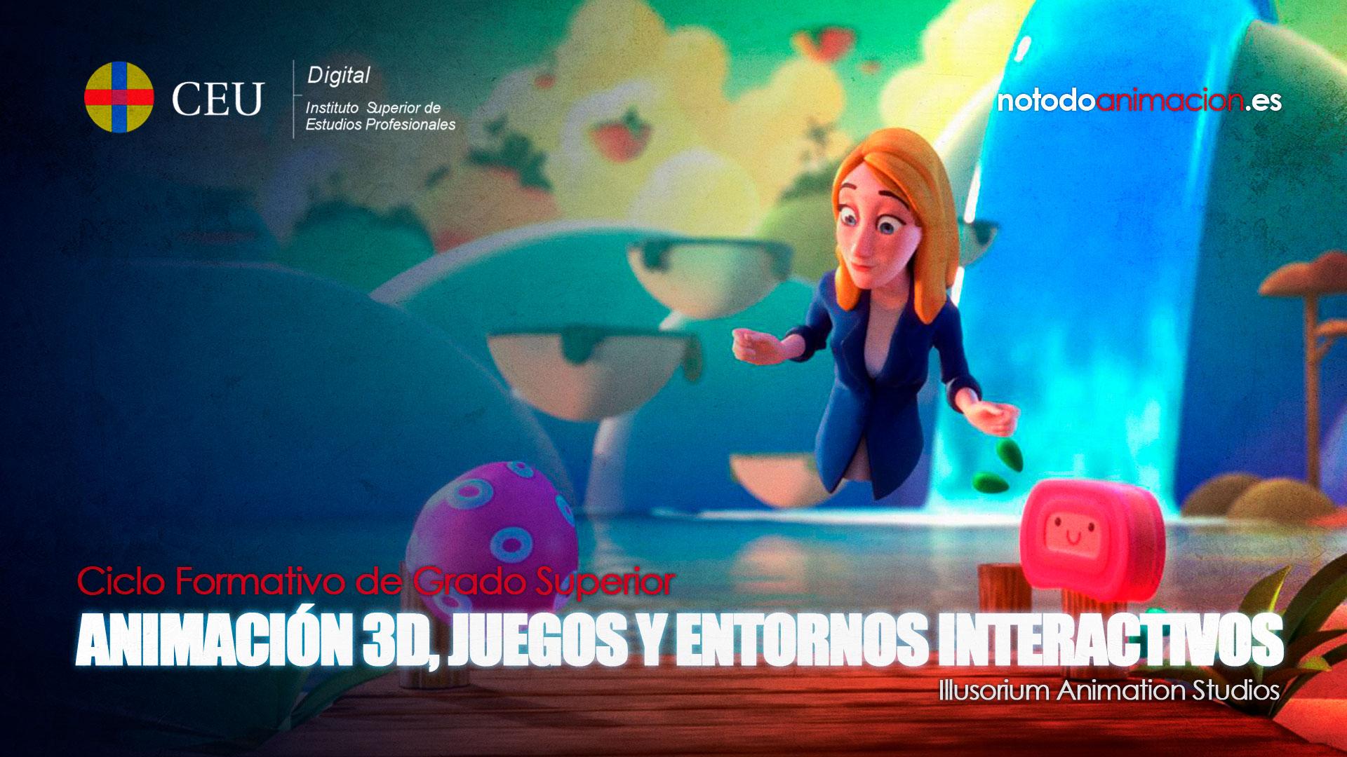 ciclo superior de animaciones 3d juegos y entornos interactivos