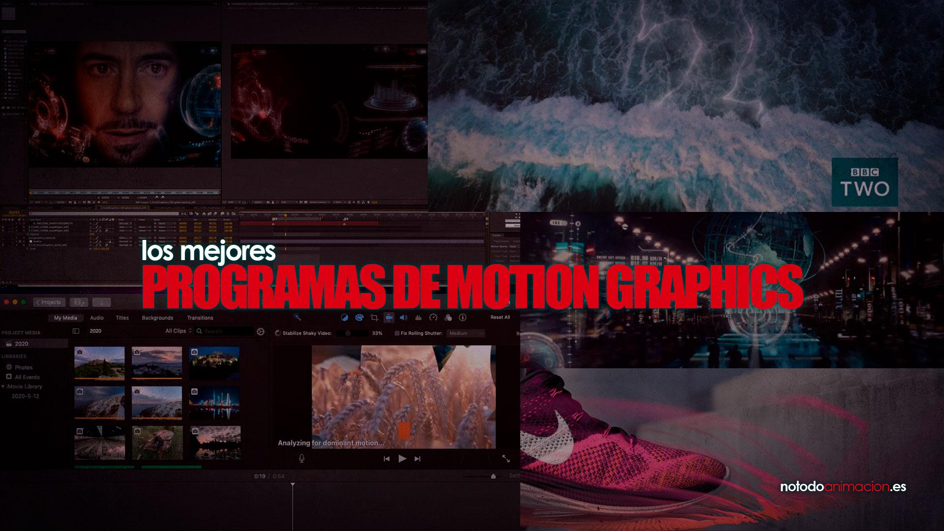 programas para crear y animar motion graphics
