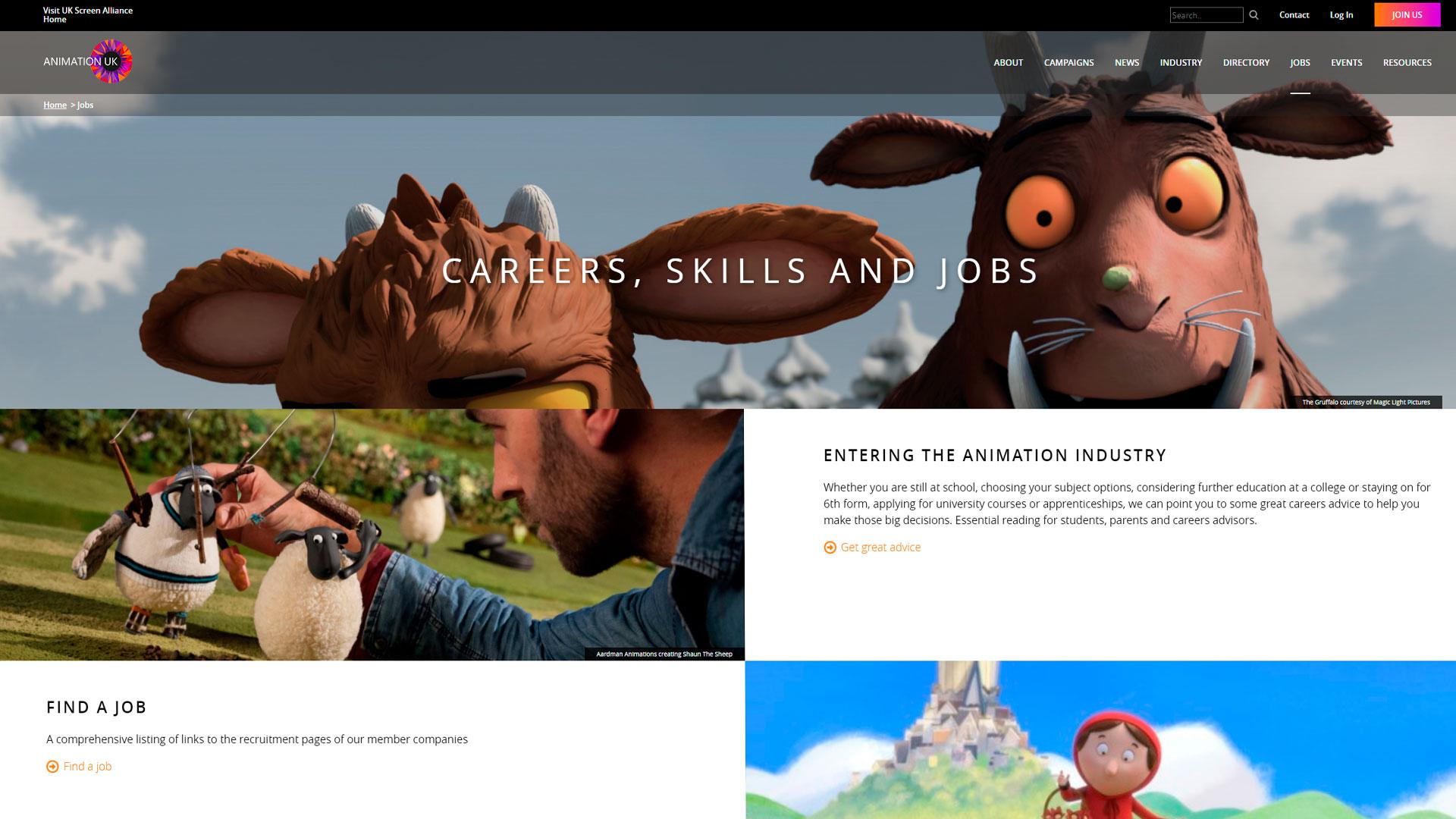 webs de trabajo animacion vfx