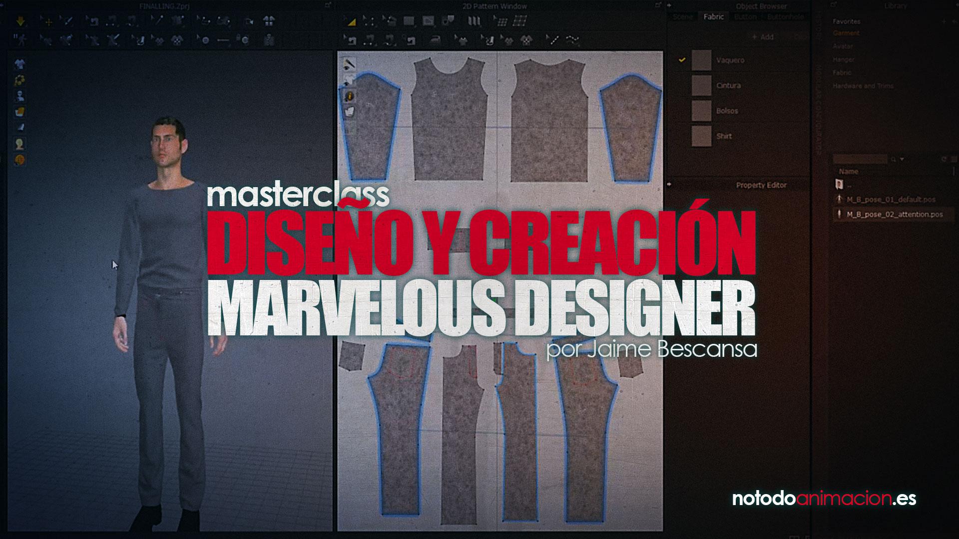 Diseño y Creación de ropa 3D en Marvelous Designer