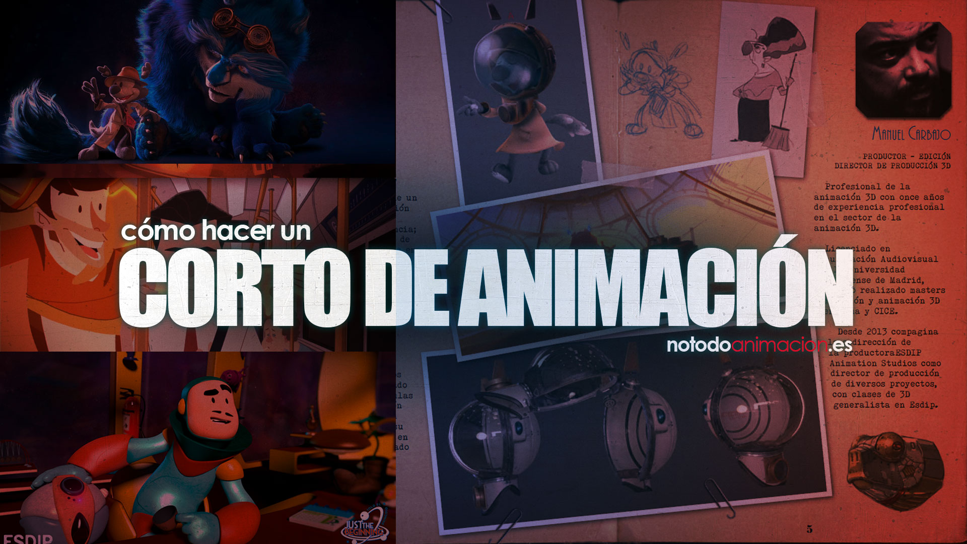 cómo hacer un corto de animación 3d 2d