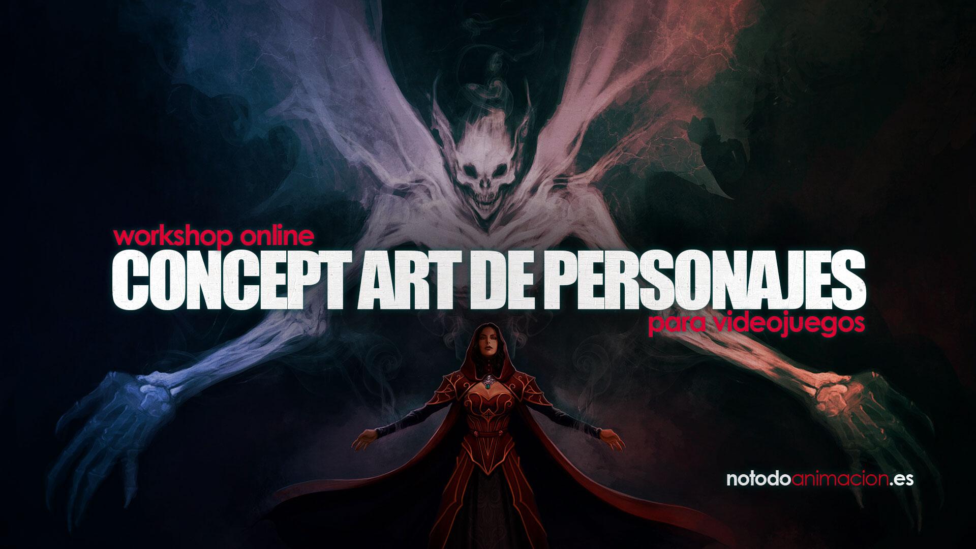concept art de personajes para videojuegos